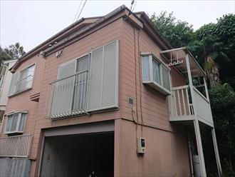 横浜市旭区西川島町にて築25年二回目の外壁塗装はパーフェクトトップ(15-60D)で一段階落ち着いた雰囲気へ、施工前写真