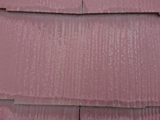 川崎市高津区久地にてスレート屋根の点検調査、スレートの端が変色している時は雨水が溜まっている状態ですので塗装をしましょう