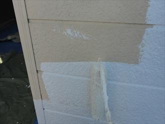 外壁塗装 下塗りの様子