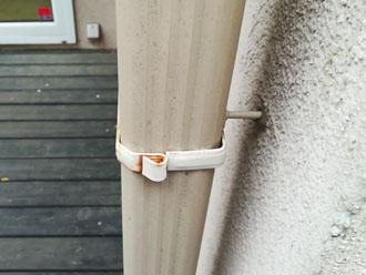 横浜市瀬谷区橋戸にて外壁の点検調査、雨樋の塗装は見た目の向上だけでなく紫外線から守る役割もあります