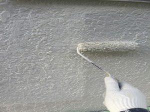 パーフェクトトップで塗装する様子