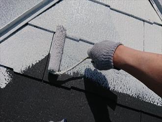 横浜市神奈川区|サーモアイSi・クールダークグレーで屋根塗装