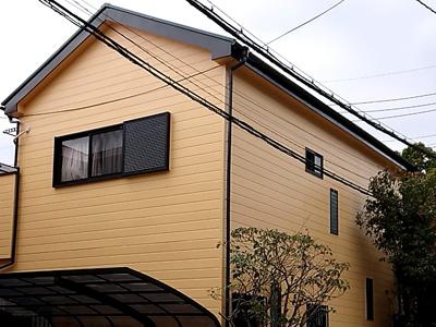 相模原市中央区千代田にて屋根にはファインパーフェクトベストを、外壁にはパーフェクトトップND-281による塗装工事を行いました、施工後写真