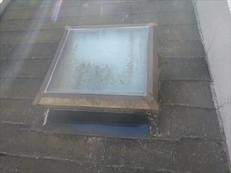 綾瀬市 コケの生えたスレート屋根を塗装で綺麗に