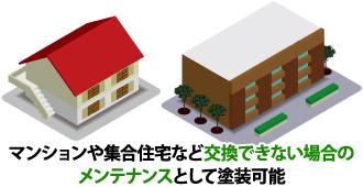 マンションや集合住宅など交換できない場合のメンテナンスとして塗装可能