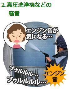高圧洗浄機などの 騒音