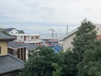 横須賀市で縁切りしていないスレート屋根の塗装工事