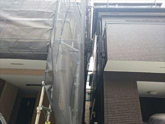 外壁塗装,足場架設