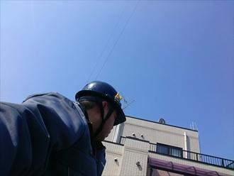 川崎市川崎区で棟板金の調査と一緒に屋根の塗装の状態も調べます