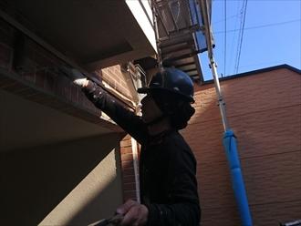 横浜市保土ケ谷区でタイル部部分に撥水塗料でエフロ防止