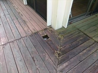 床板が腐っている