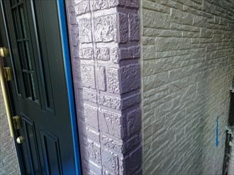 外壁の塗り分け部分