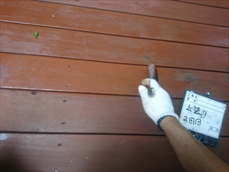 浸透性塗料上塗り