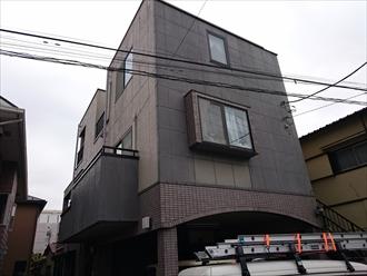 外壁をオートンイクシードとパーフェクトトップで塗り替え 川崎市川崎区、施工前写真
