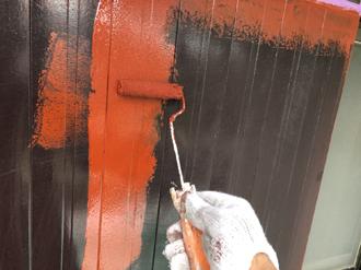 付帯部分への下塗り塗装