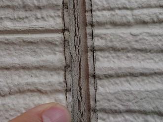 厚木市王子にて点検調査、窯業系サイディングのシーリング補修は今後安心してお過ごしいただけるように打ち替えにて補修いたします