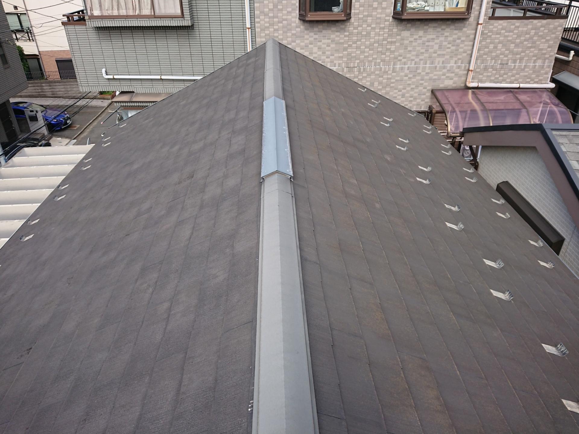 築18年のコロニアル・化粧スレート屋根の様子