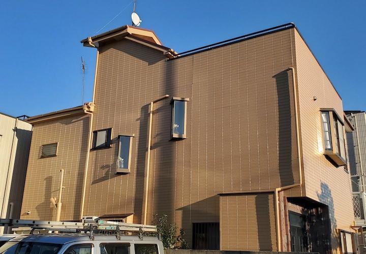 大和市林間にて、外壁のコーキング補修とパーフェクトトップND-343で塗装を行いました