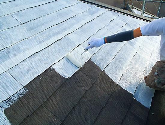 屋根塗装~下塗り~