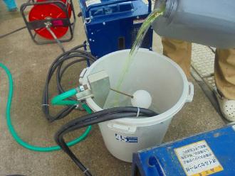 高圧洗浄とバイオ洗浄