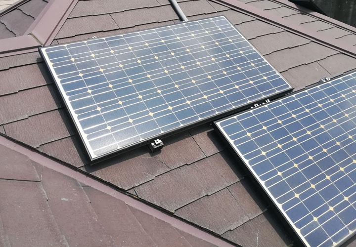 横浜市青葉区荏子田のお住まいの点検調査、太陽光パネル撤去後はもう一度塗装することをおすすめします