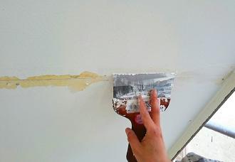 軒天の塗装補修