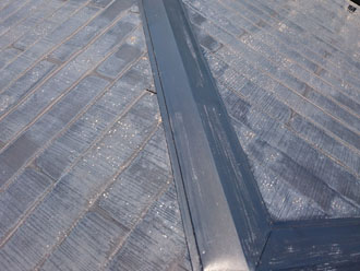 川崎市高津区下作延にてお家の点検調査、屋根の色あせや苔は塗料の劣化が原因ですので塗装を行いましょう