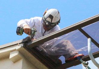 ベランダ屋根の補修
