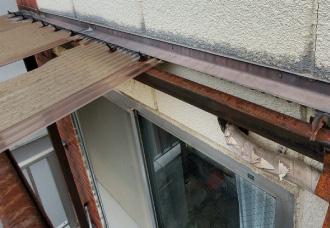 劣化したベランダ屋根