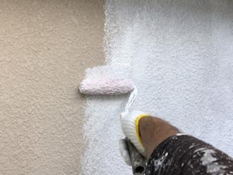 横須賀市汐入町にてモルタルの塗装、パーフェクトトップ「ND-370」のカラーでお住まいの印象が一気に変わりました