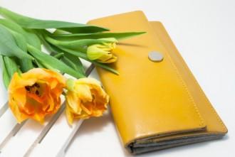 黄色 財布花