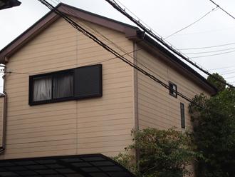 相模原市中央区千代田にて屋根にはファインパーフェクトベストを、外壁にはパーフェクトトップND-281による塗装工事を行いました、施工前写真