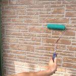 クリア塗装工事の様子