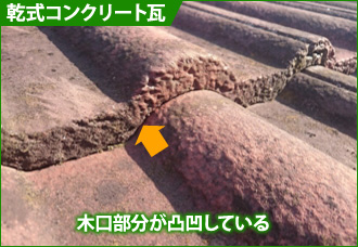 乾式コンクリート瓦の見分け方