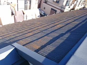 横浜市青葉区 外壁と屋根のリフォーム前調査 屋根に苔が生えている