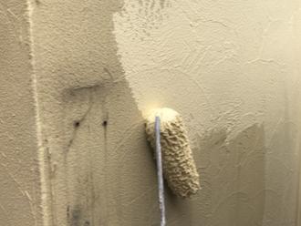 大和市上草柳にて、エラストコート(B-102)でモルタル外壁の塗装を行いました
