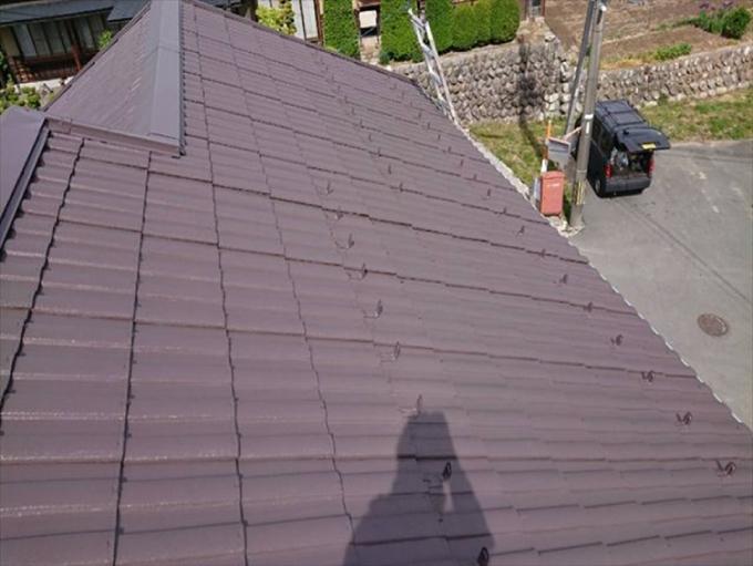 屋根塗装、仕上がり