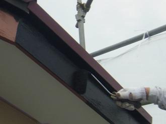 破風 塗装作業