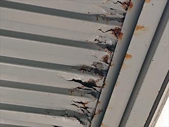 川崎市中原区小杉陣屋町で腐食したアパートの鉄骨階段の塗装工事をおこないます