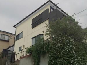 神奈川県神奈川区 外壁塗装 外壁の色 クリーム ブルーグレー