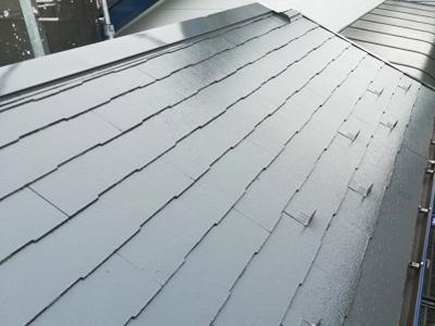藤沢市弥勒寺にて築15年になる集合住宅、ファインパーフェクトベストにて屋根塗装を、パーフェクトトップ(ND-012、ND-400)にて外壁塗装メンテナンスを実施!、施工後写真
