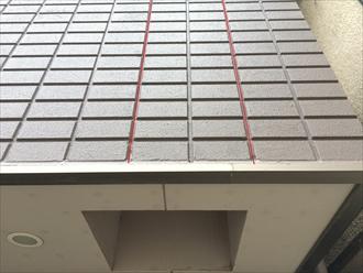横浜市都筑区中川のマンションの外壁を調査、ALCに打たれたコーキングが劣化傾向にありました