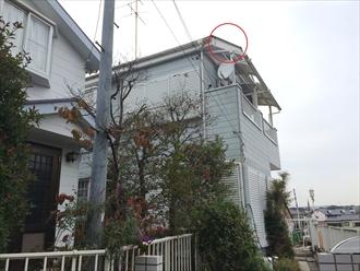 横浜市中区の外壁塗装調査、破風板の表面の劣化が進行しすぎると塗装は困難1