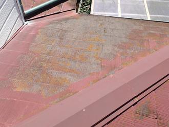 屋根の色褪せ、苔