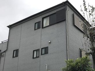 海老名市上今泉にて屋根カバー工法とパーフェクトトップND-373による外壁塗装工事、施工前写真