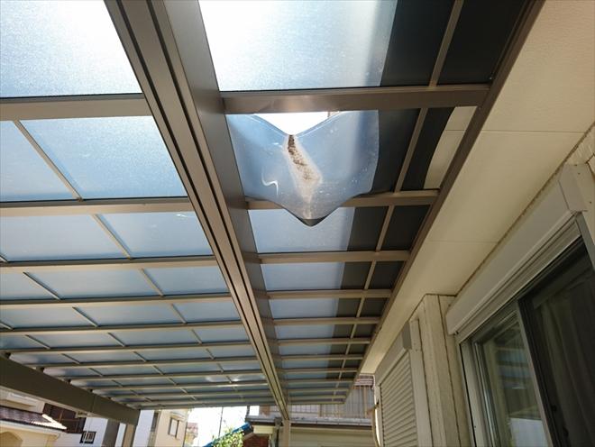 カーポート・アーキデュオワイドの補修工事 横浜市泉区