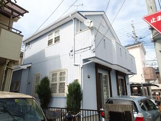 松田町松田庶子で洋風のお家を外壁塗装前にカラーシミュレーション