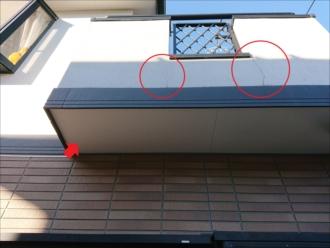 横浜市金沢区富岡東にて幕板を境にモルタルと窯業系サイディングに分かれている外壁を塗り替えの為調査しました