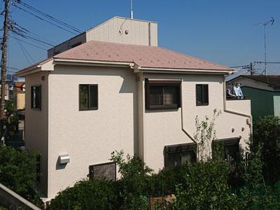 座間市東原で築10年のお家を屋根は遮熱塗料で外壁はラジカル制御塗料でメンテナンス、施工後写真