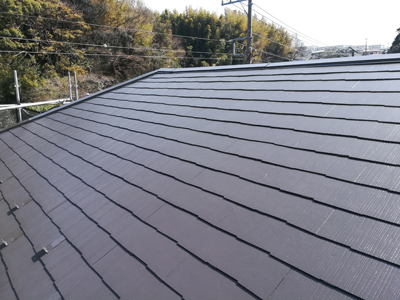 屋根塗装後の化粧スレート屋根
